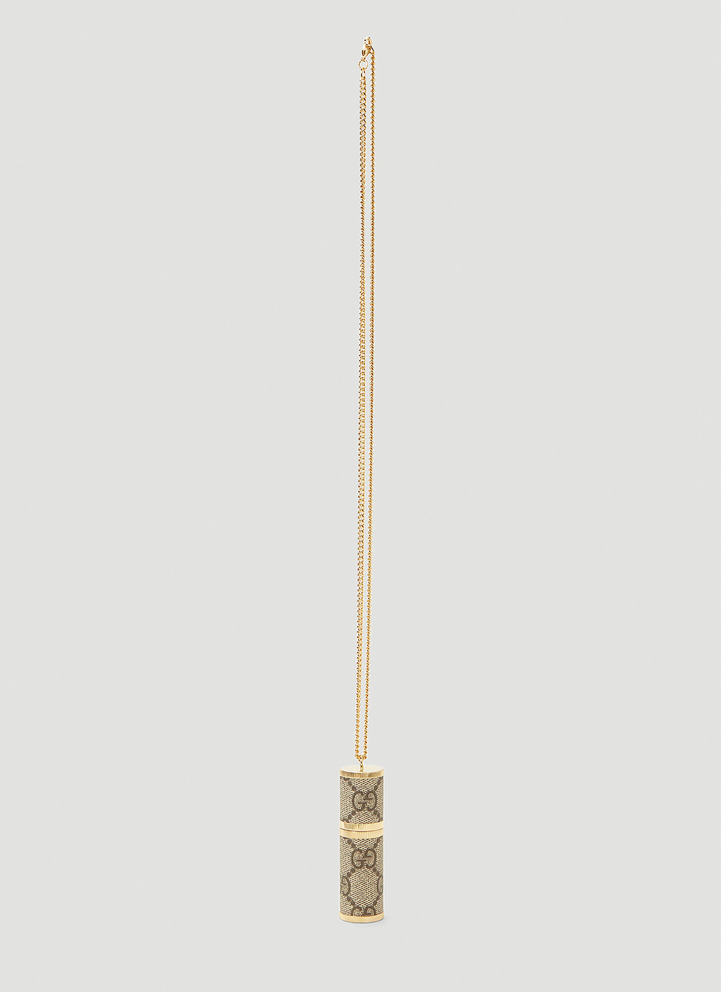Gucci Perfume Refillable Atomiser Necklace in Brown