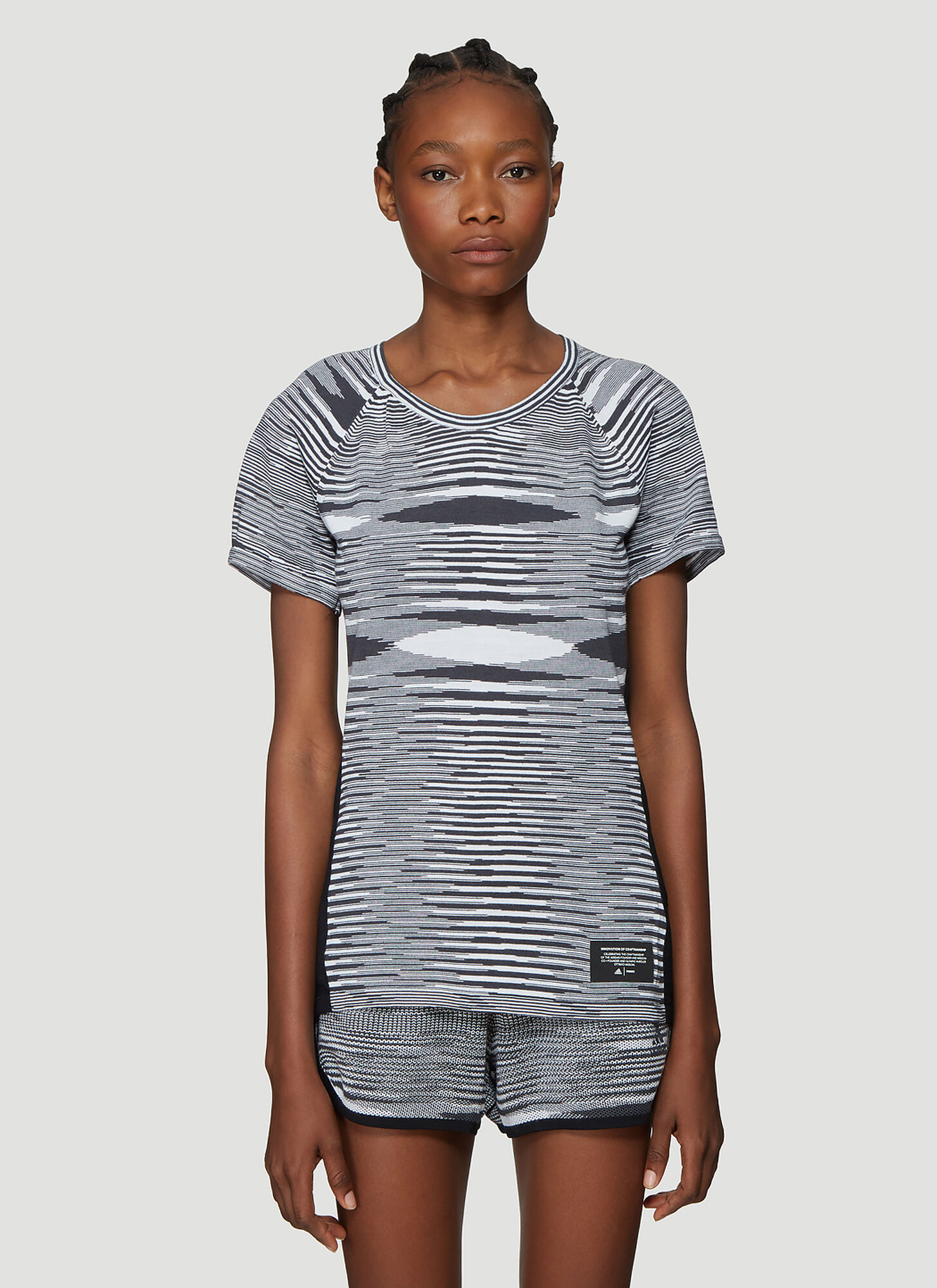 Adidas x Missoni X Missoni City Runners Unite T-Shirt in Grey