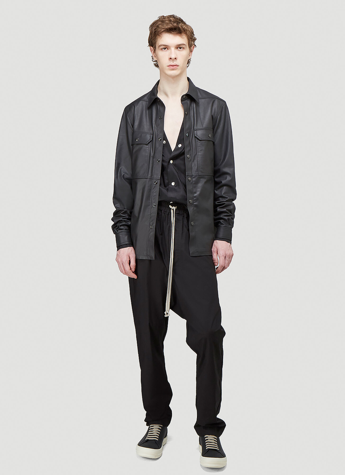 Rick Owens Outer Shirt in Black