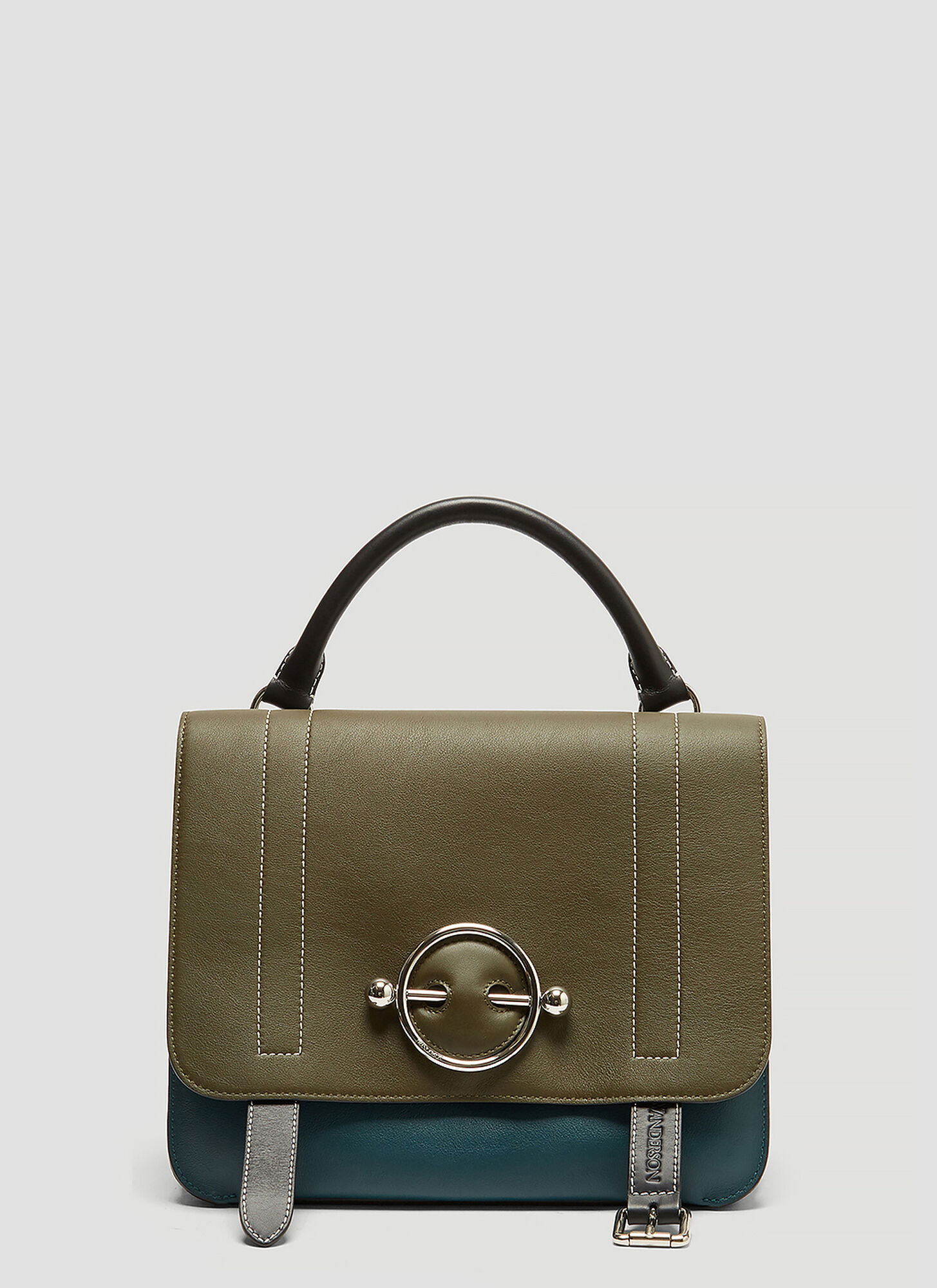 JW ANDERSON | JW Anderson Disc Satchel Handbag in Green size One Size | Goxip