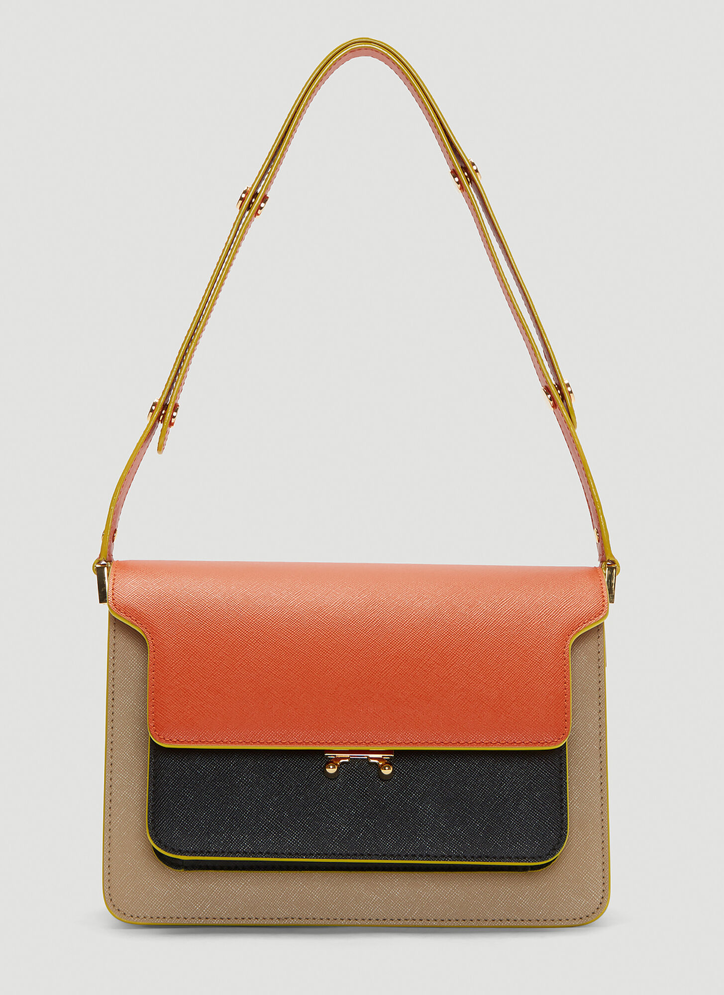 Marni Medium Trunk Bag in Orange