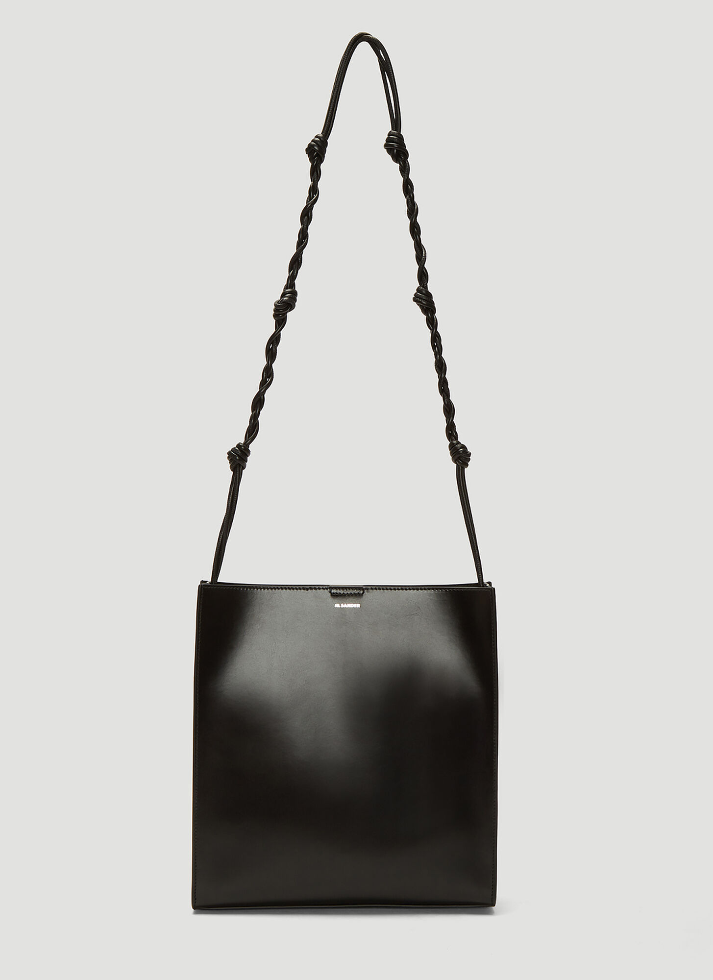 Jil Sander Medium Tangle Leather Bag in Black