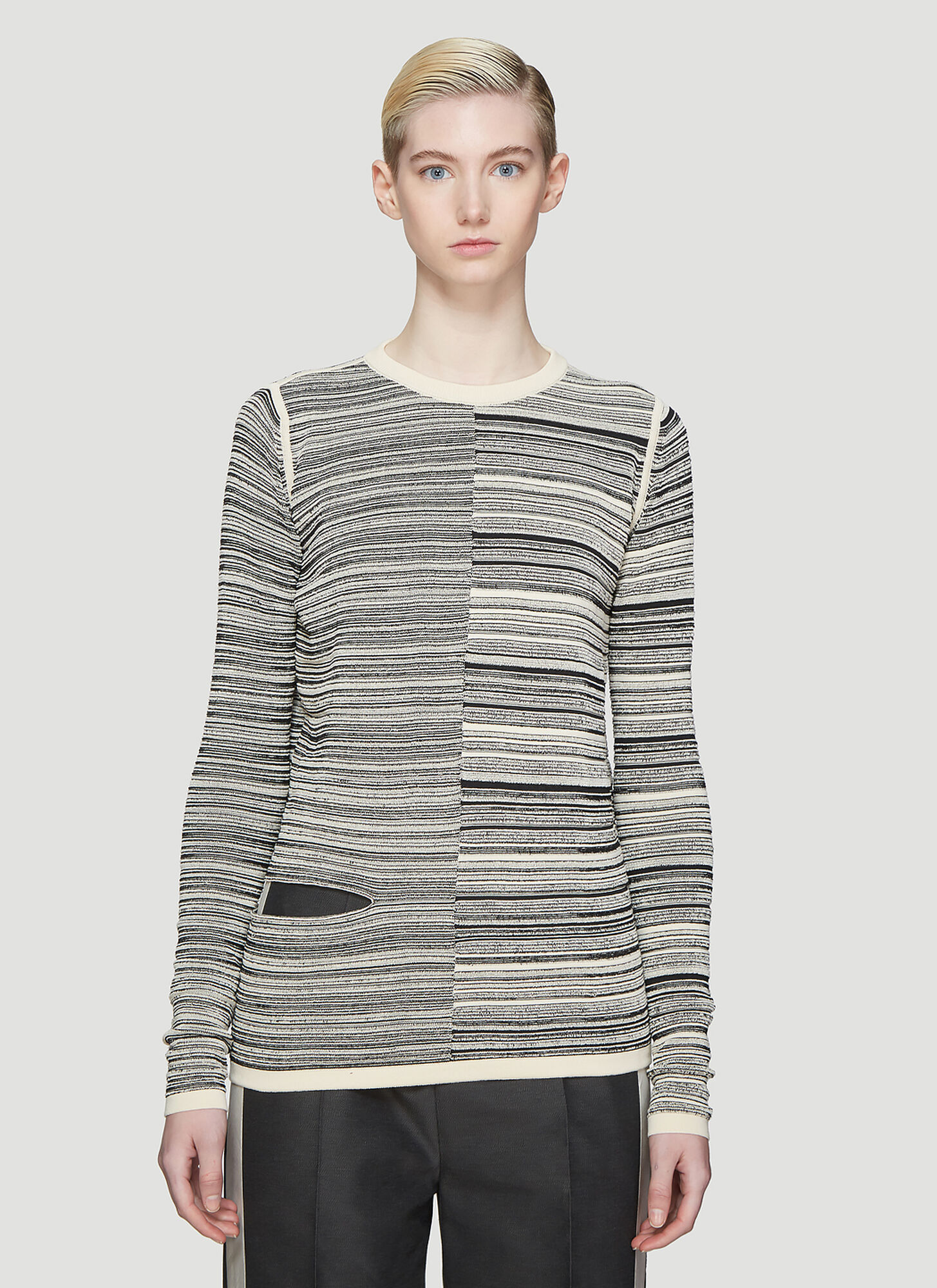 Rick Owens Sub Shred Mix Sweater in Beige
