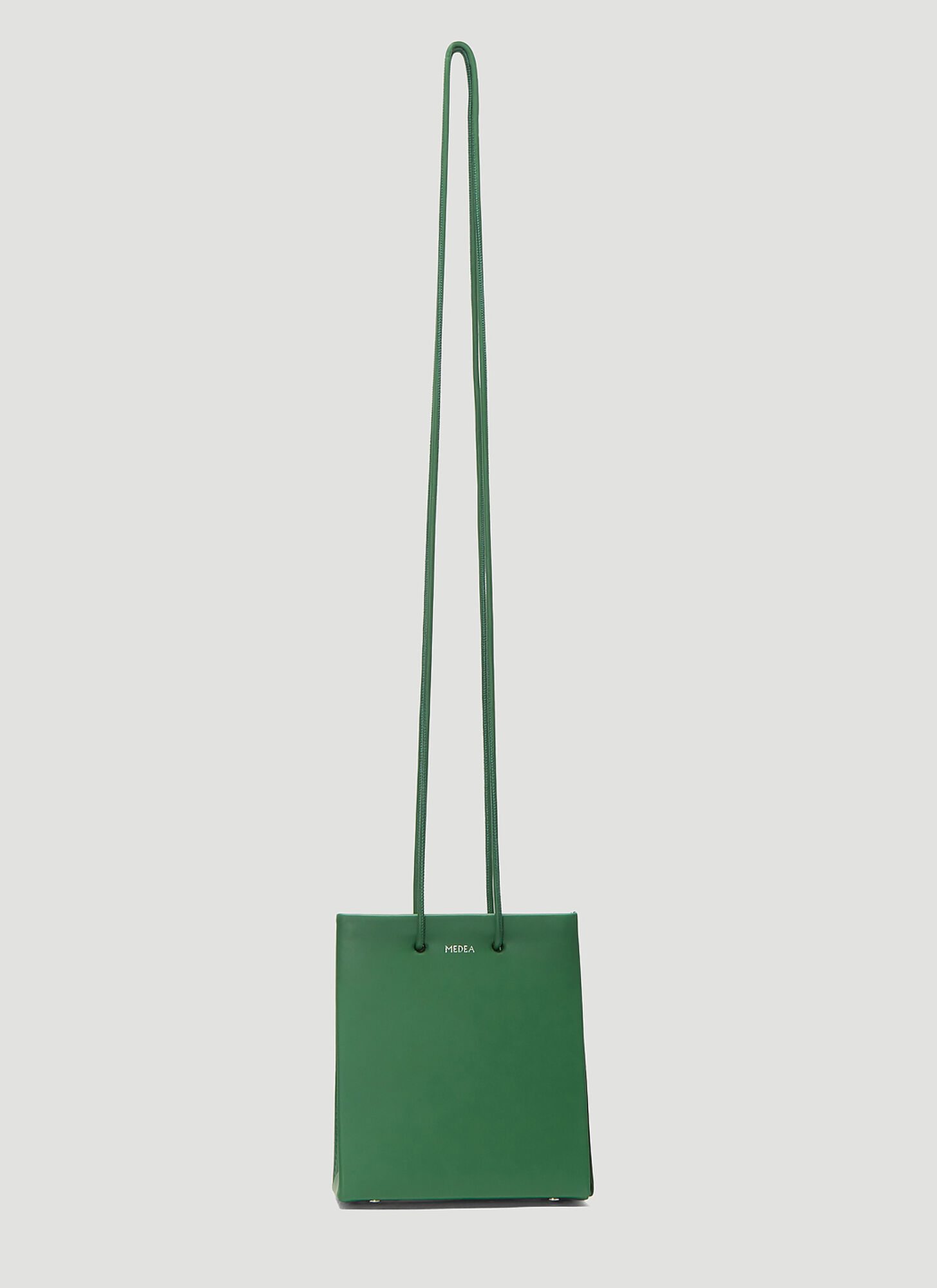 Medea Vinile Short Long Strap Bag in Green