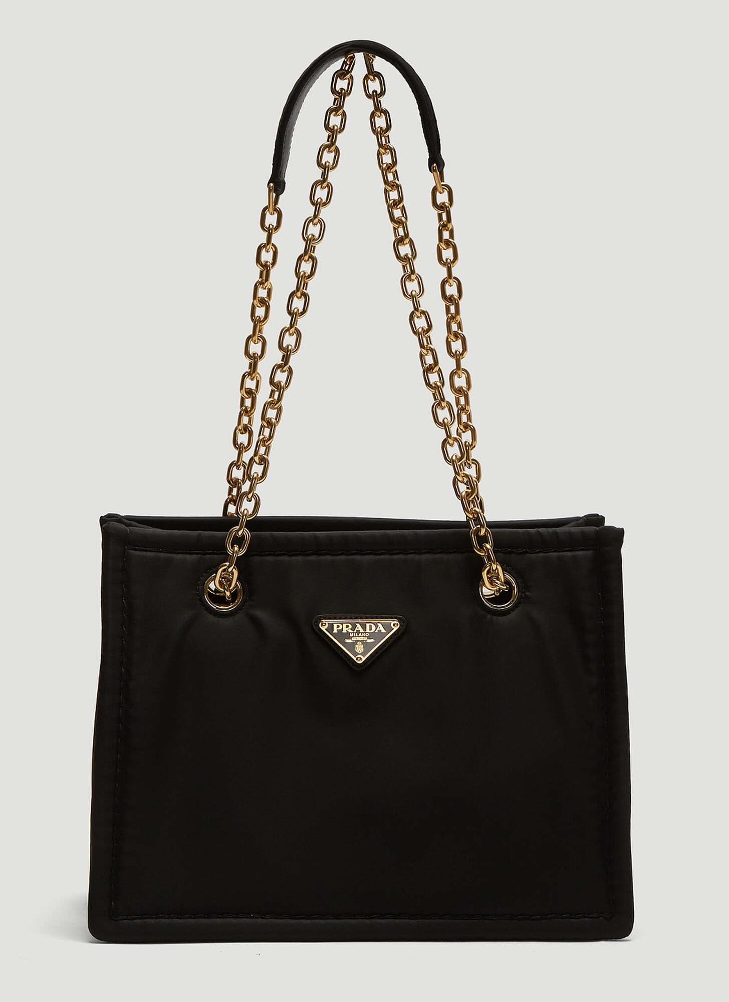 Prada Nylon Chain Bag in Black