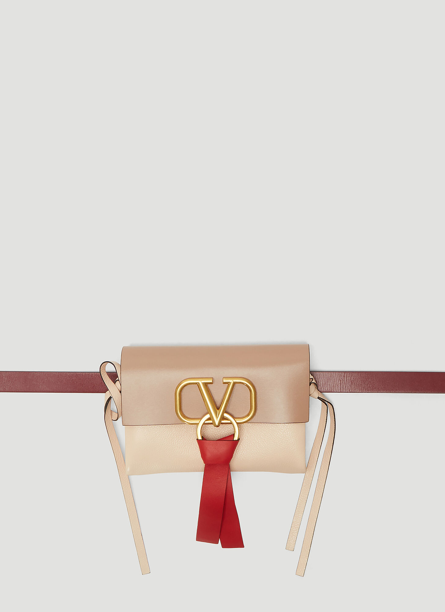 Valentino VRing Leather Belt Bag in Pink