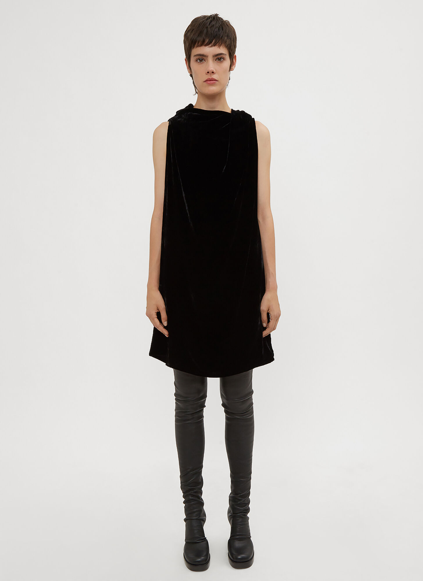 Photo of Rick Owens Toga Dress in Black - Rick Owens Dresses