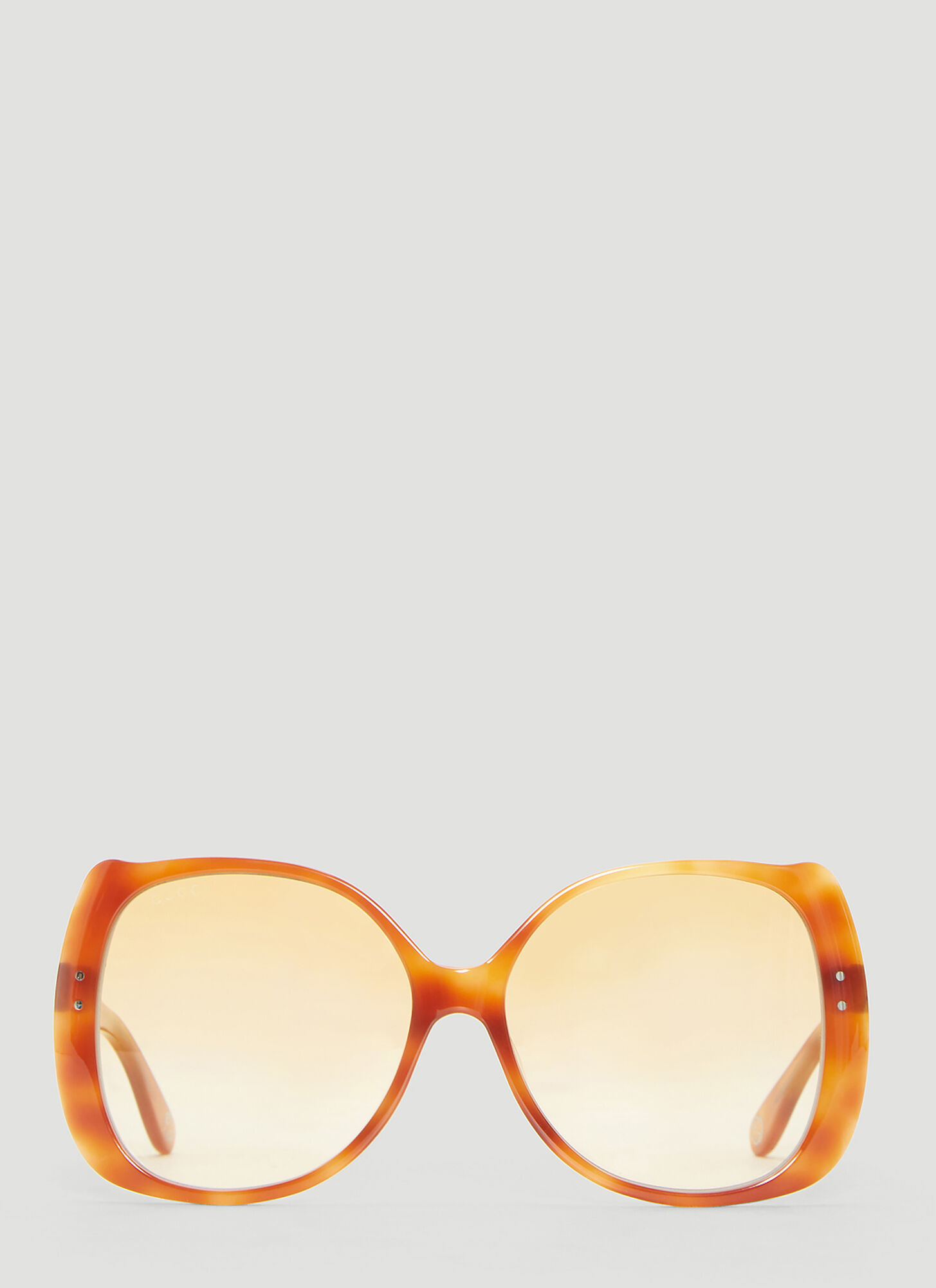 Gucci Oversized Rounded Square Frame Sunglasses in Brown