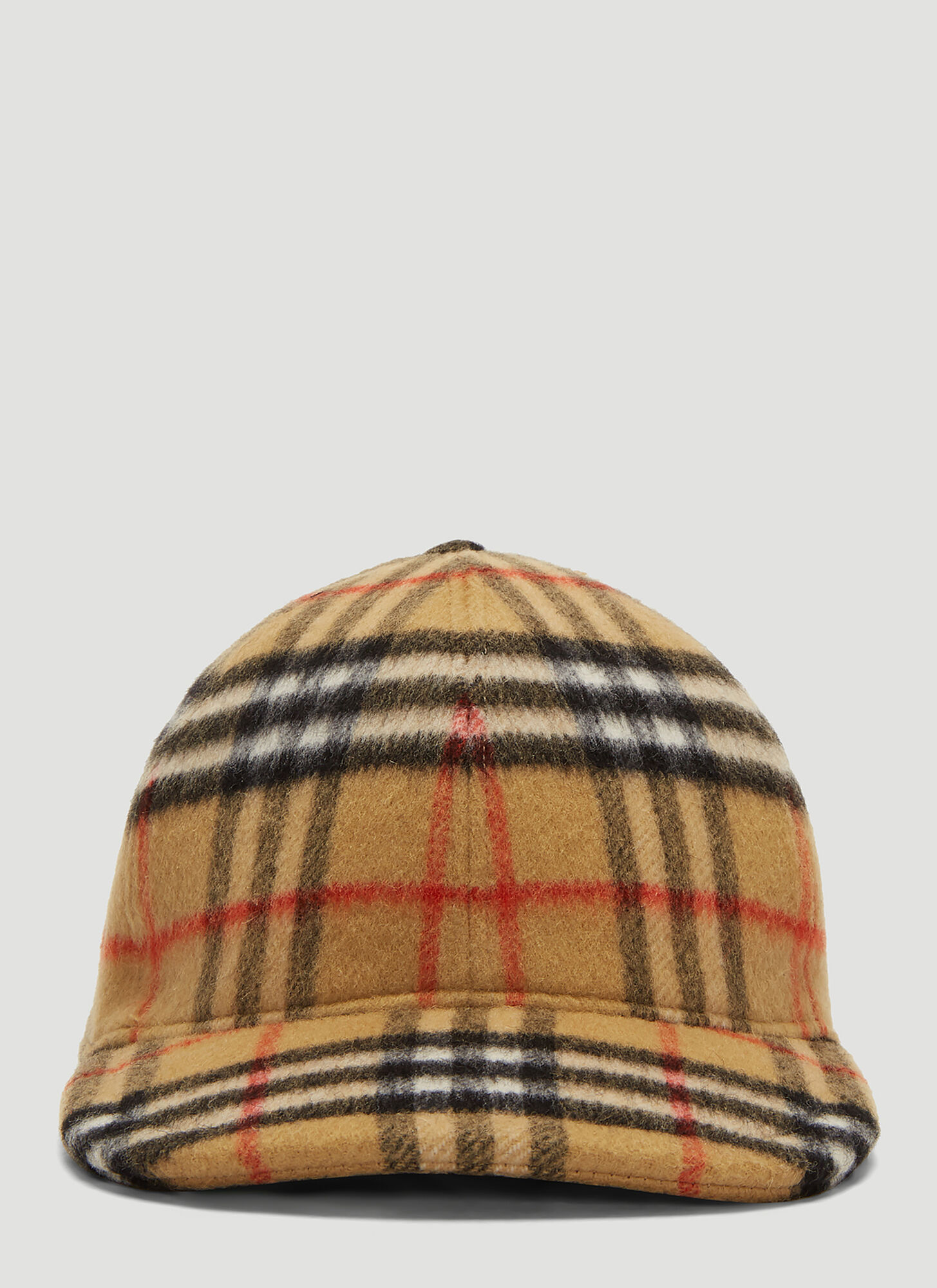 Burberry Classic Check Wool Cap in Brown