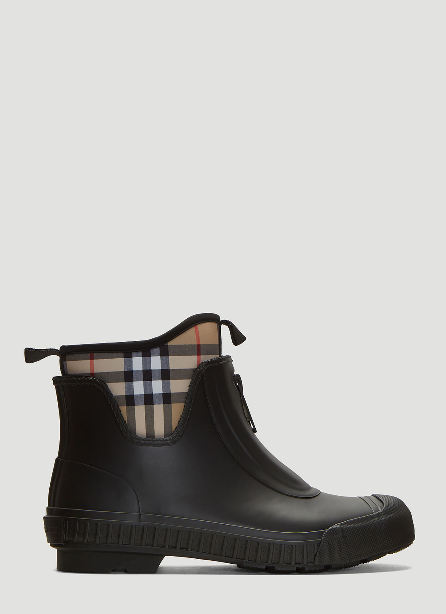 Burberry Vintage Check Rain Boots in Black