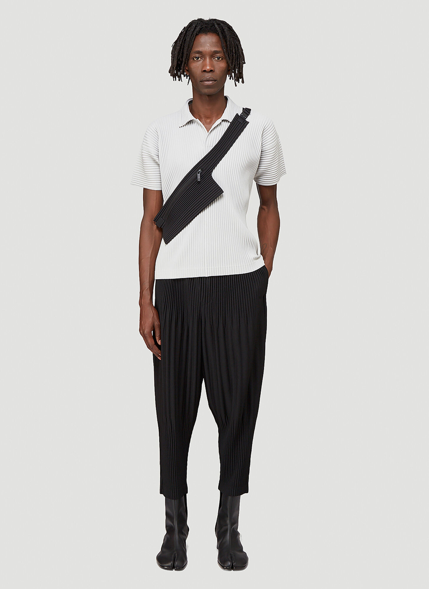 Homme Plissé Issey Miyake Pleated Polo Shirt