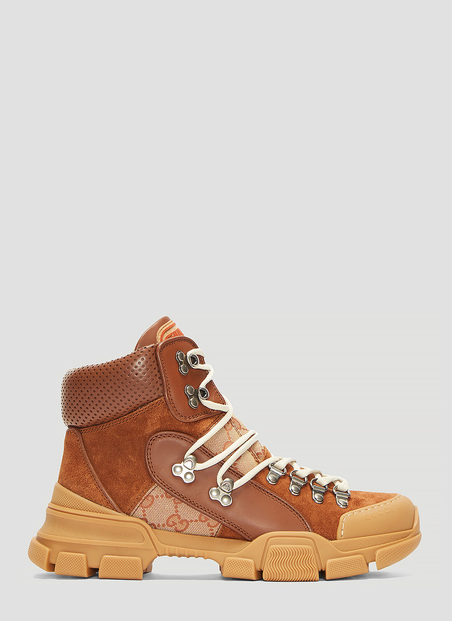 Gucci Flashtrek GG High-Top Sneaker in Brown