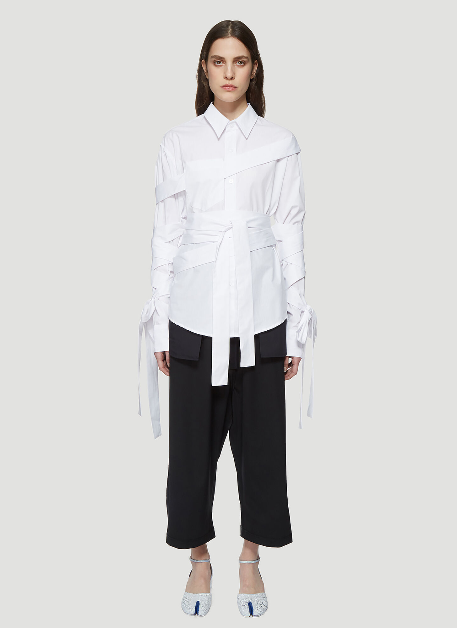 Vaquera Mummy Button Down Shirt in White