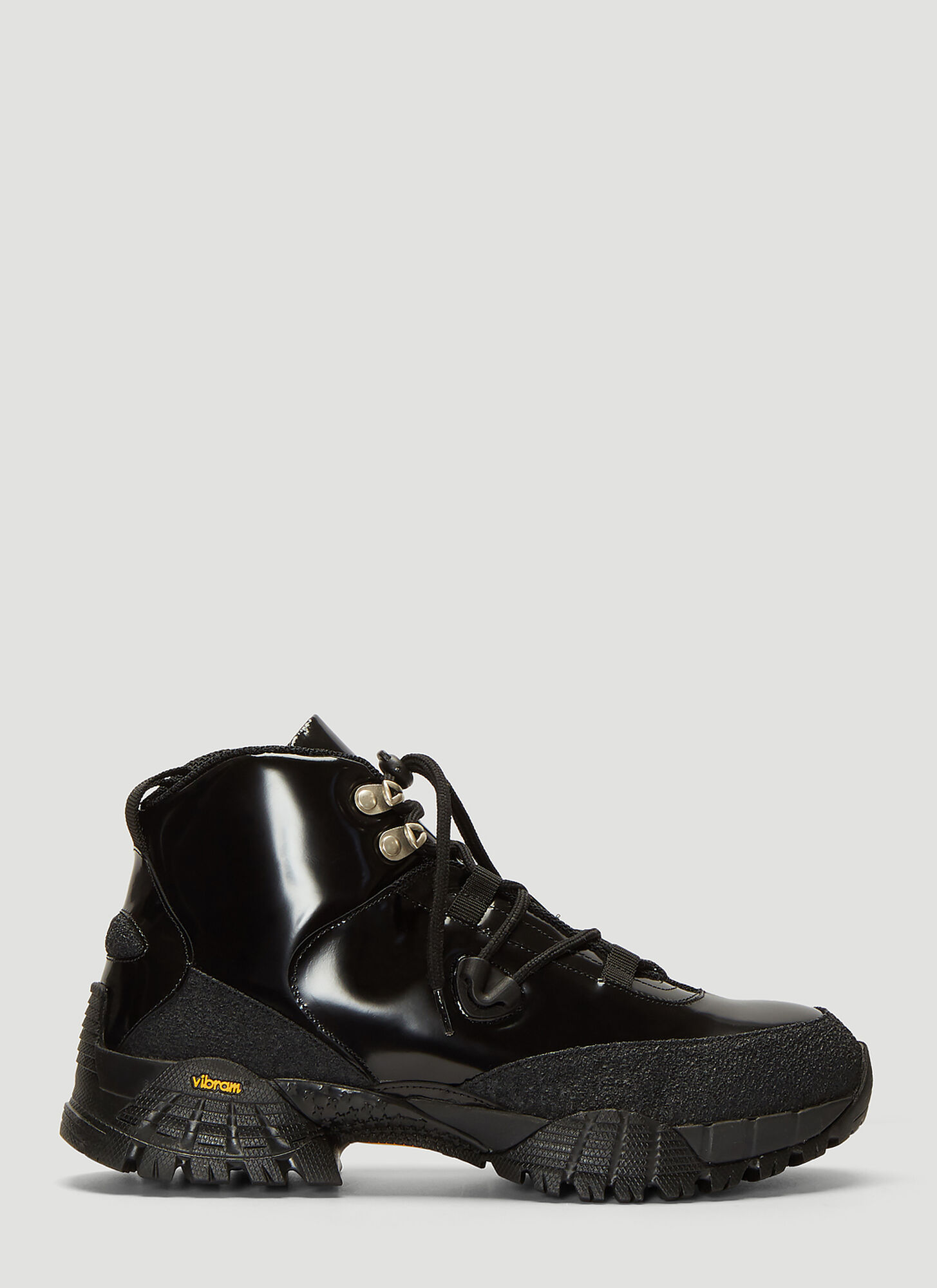 1017 ALYX 9SM Patent Leather Hiking Boots in Black