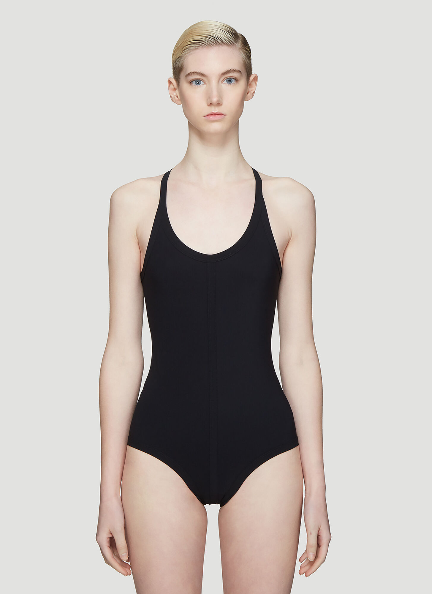 Rick Owens Cross Back Swimsuit in Black