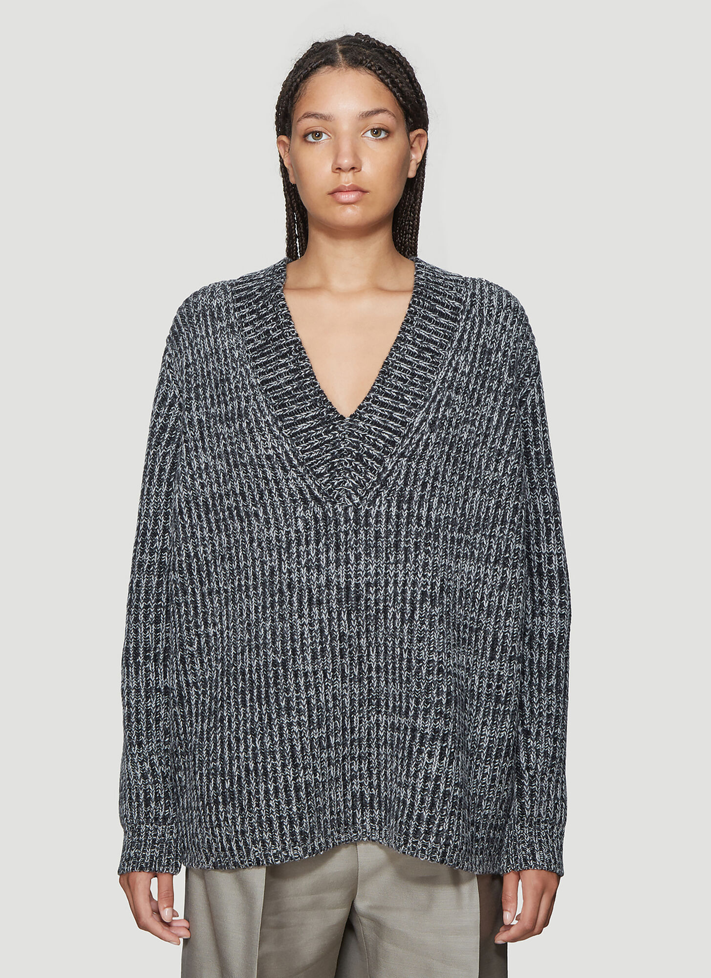 Acne Studios Keborah Wool Sweater in Grey