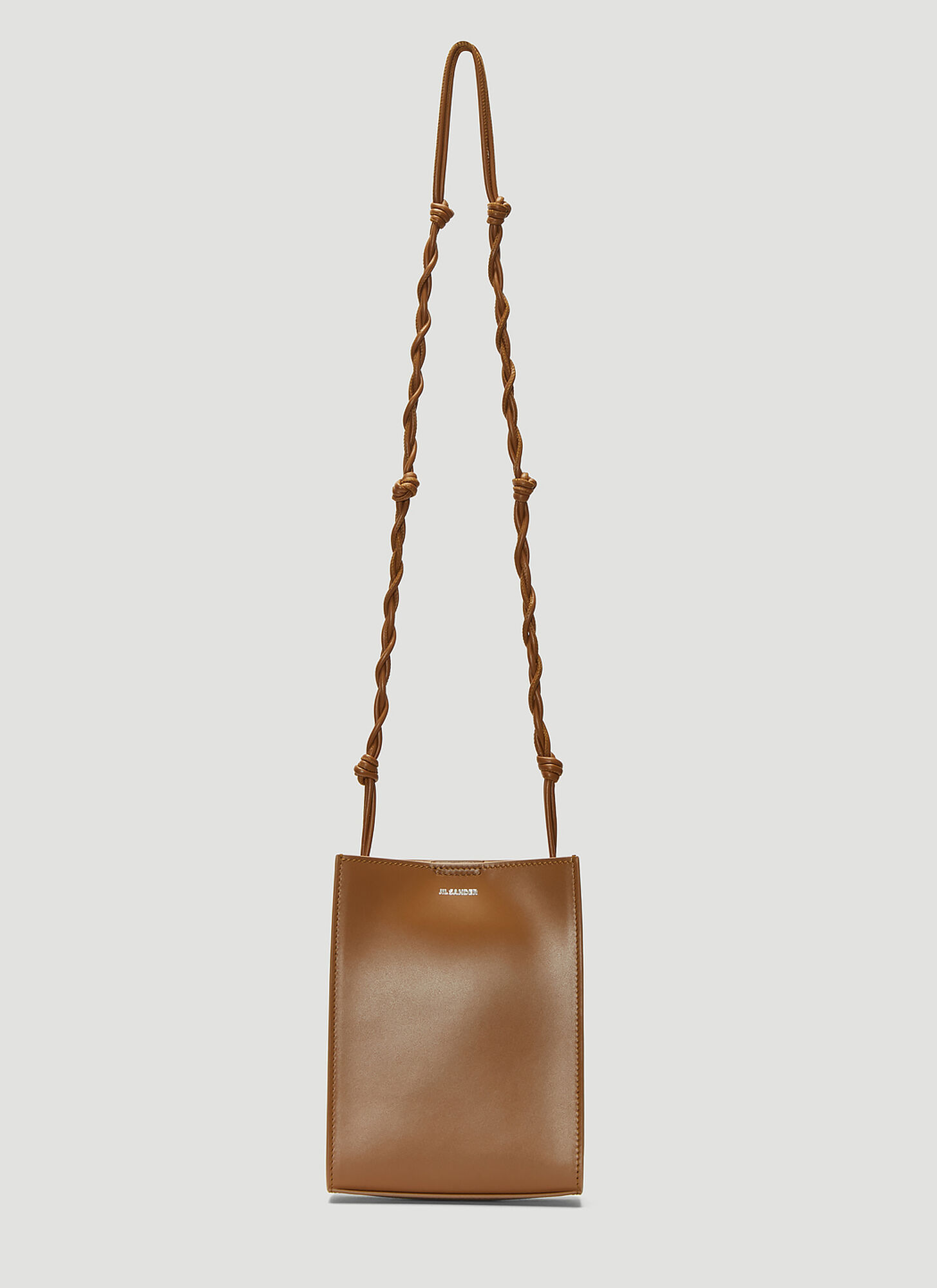 Jil Sander Tangle Small Shoulder Bag in Brown