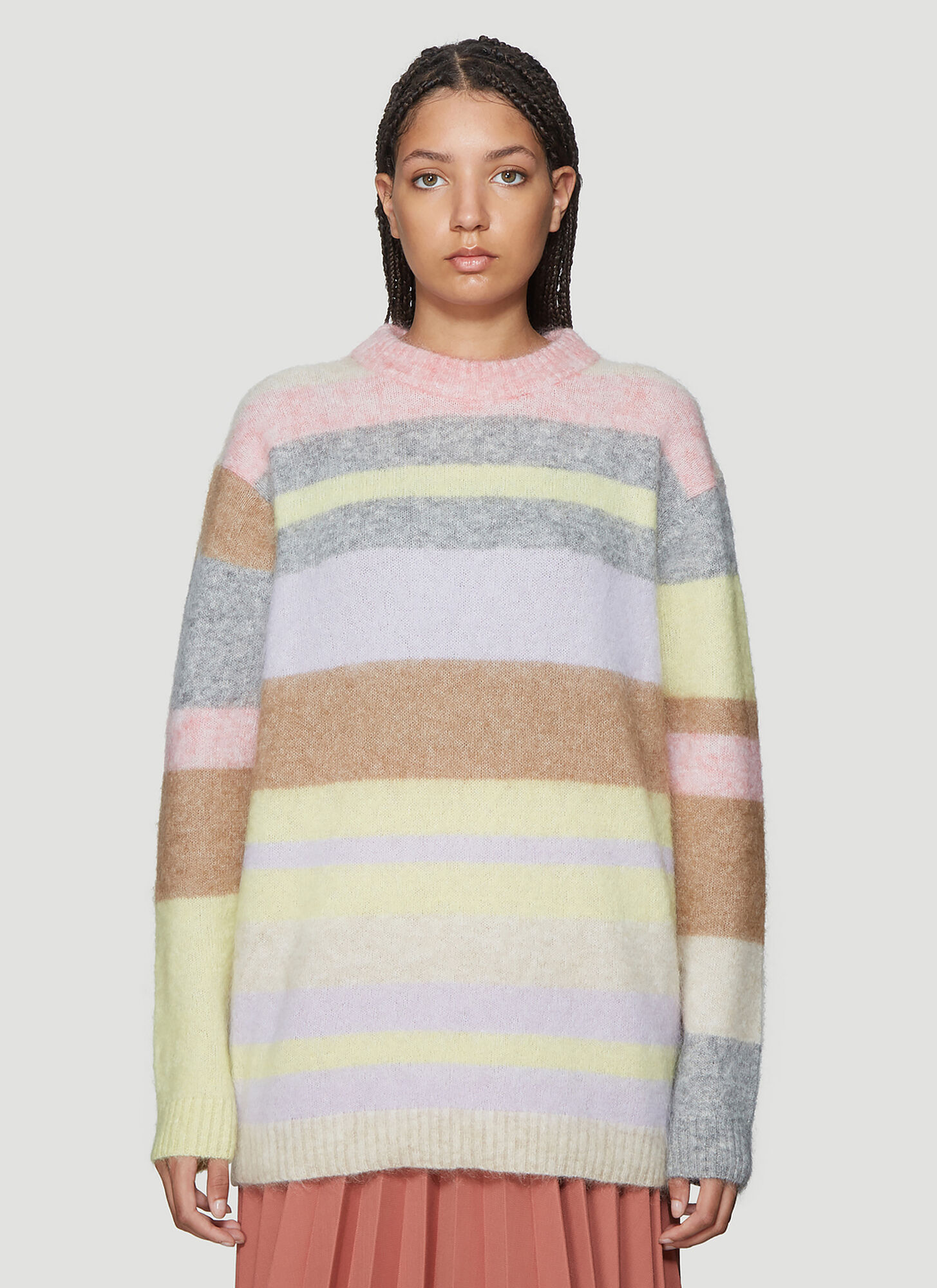 Acne Studios Striped Kalbah Knit in Pink