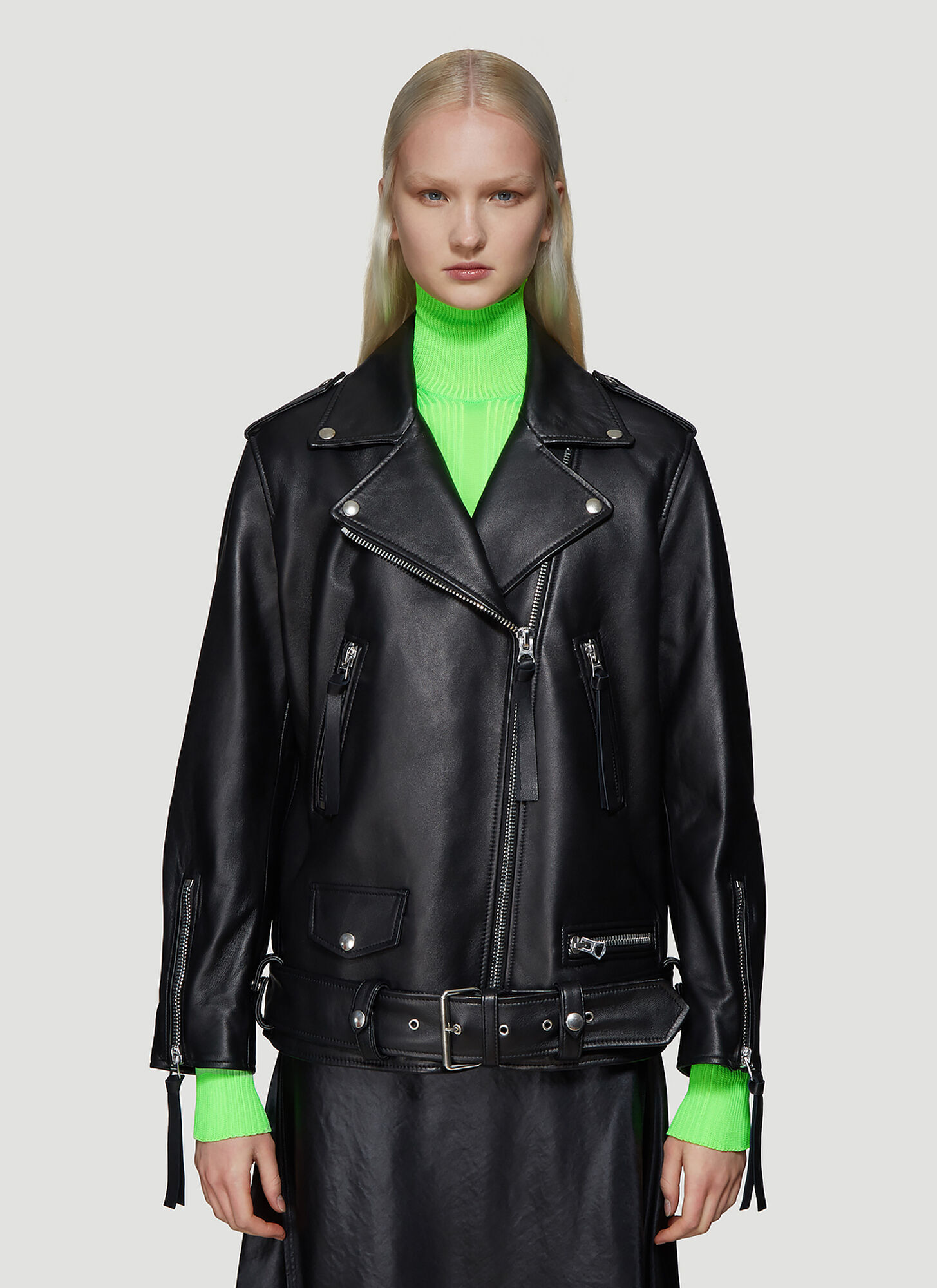Acne Studios Myrtle Leather Jacket in Black