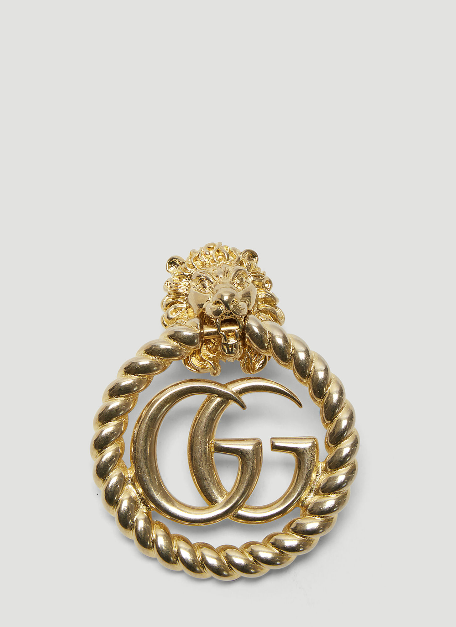 Gucci Lion Head Earring in Gold