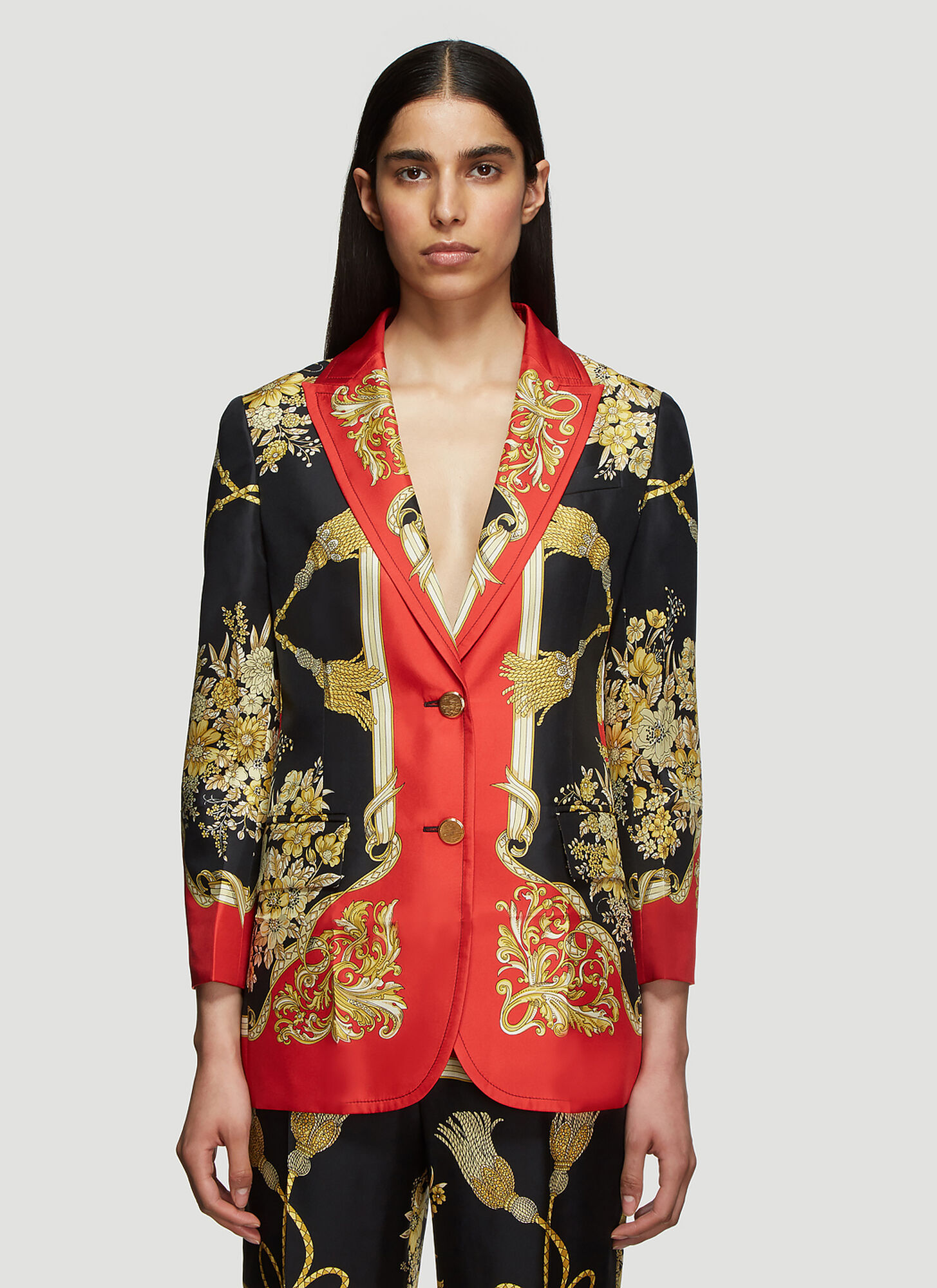 Gucci Flowers and Tassels Jacket in Red