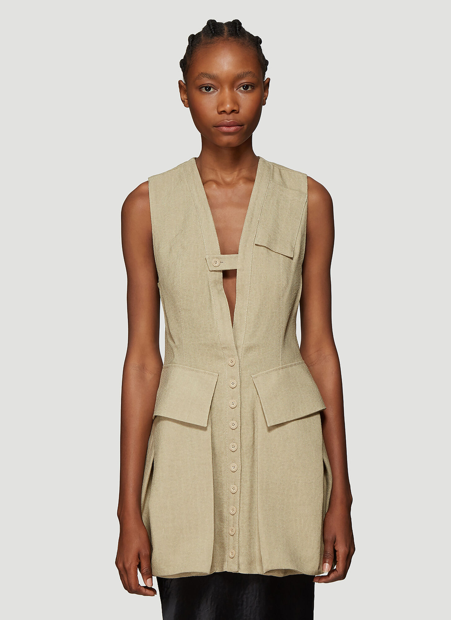 Jacquemus Le Haut Kimbe Dress in Beige