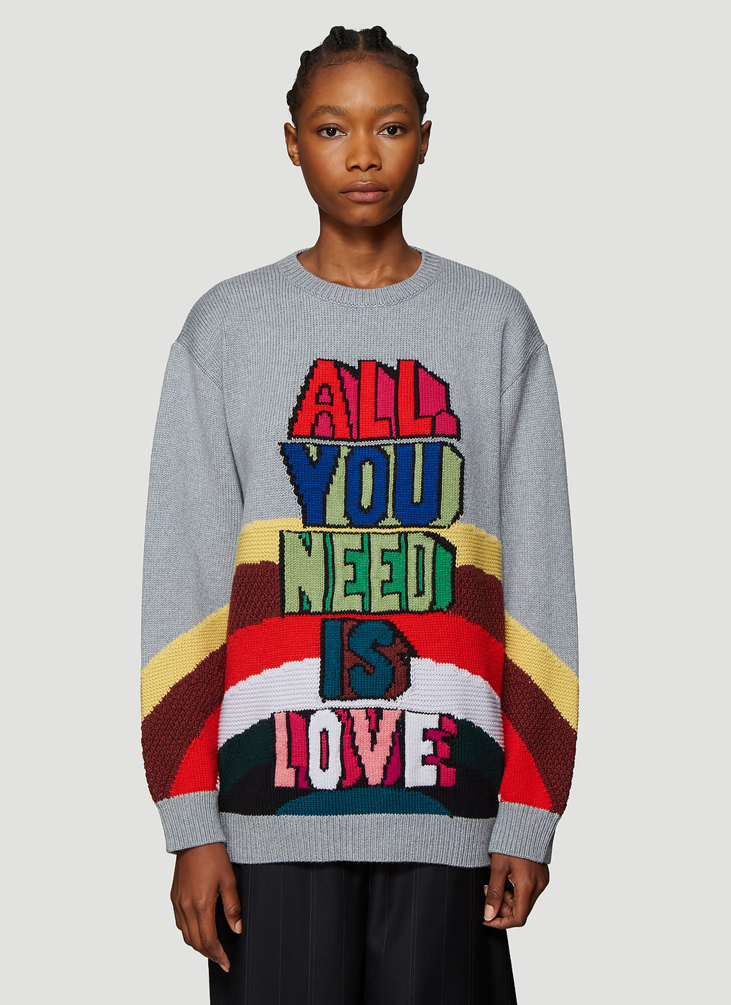 Stella McCartney The Beatles All Together Now Knit Sweater in Grey
