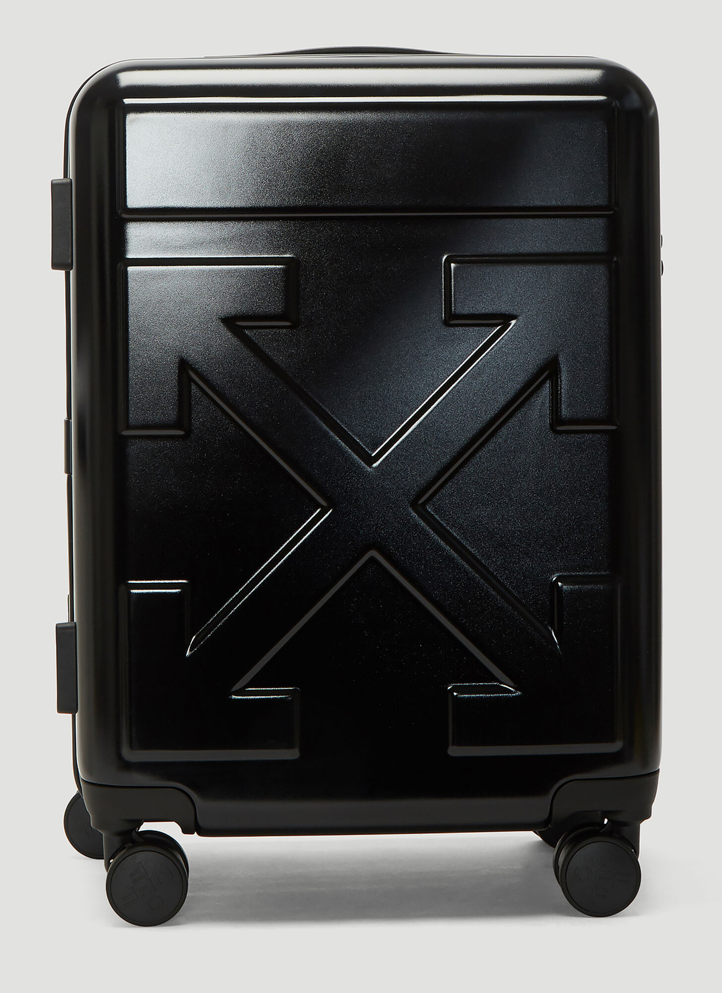 Off-White Arrow Trolley Carry-On Suitcase in Black