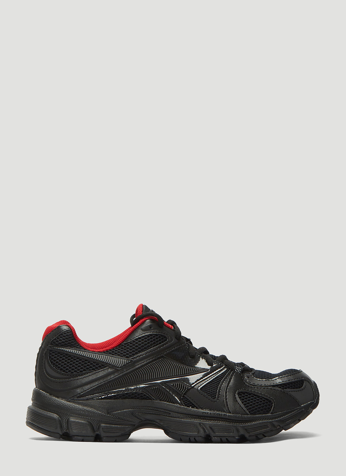 Vetements X Reebok Spike Runner 200 Low-Top Sneakers in Black