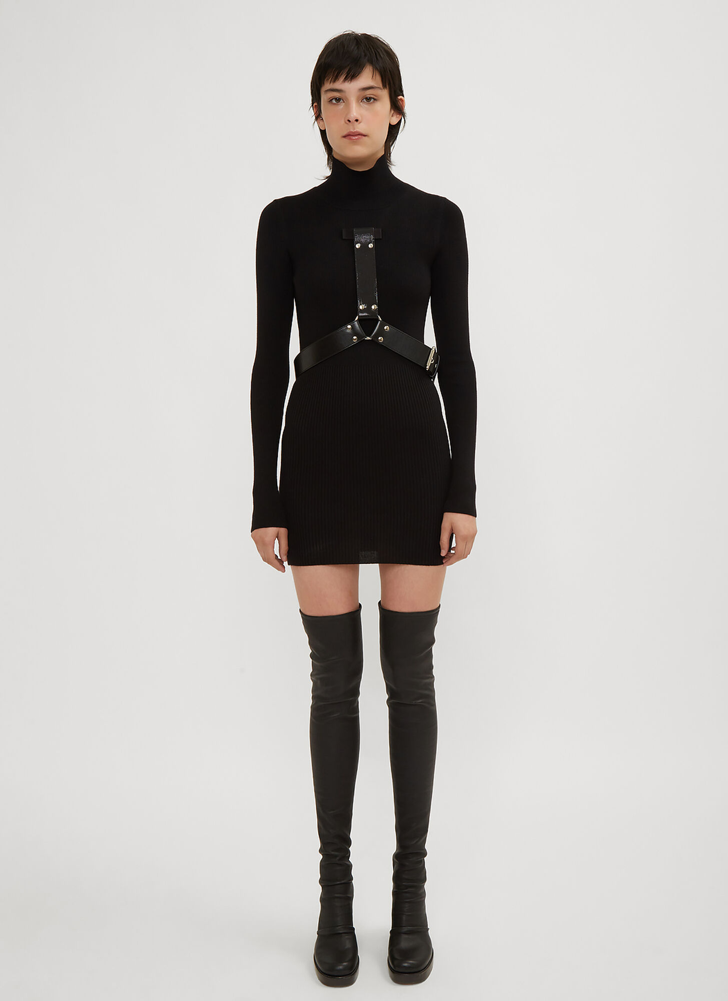 1017 ALYX 9SM Bondage Turtle Neck Dress in Black size M