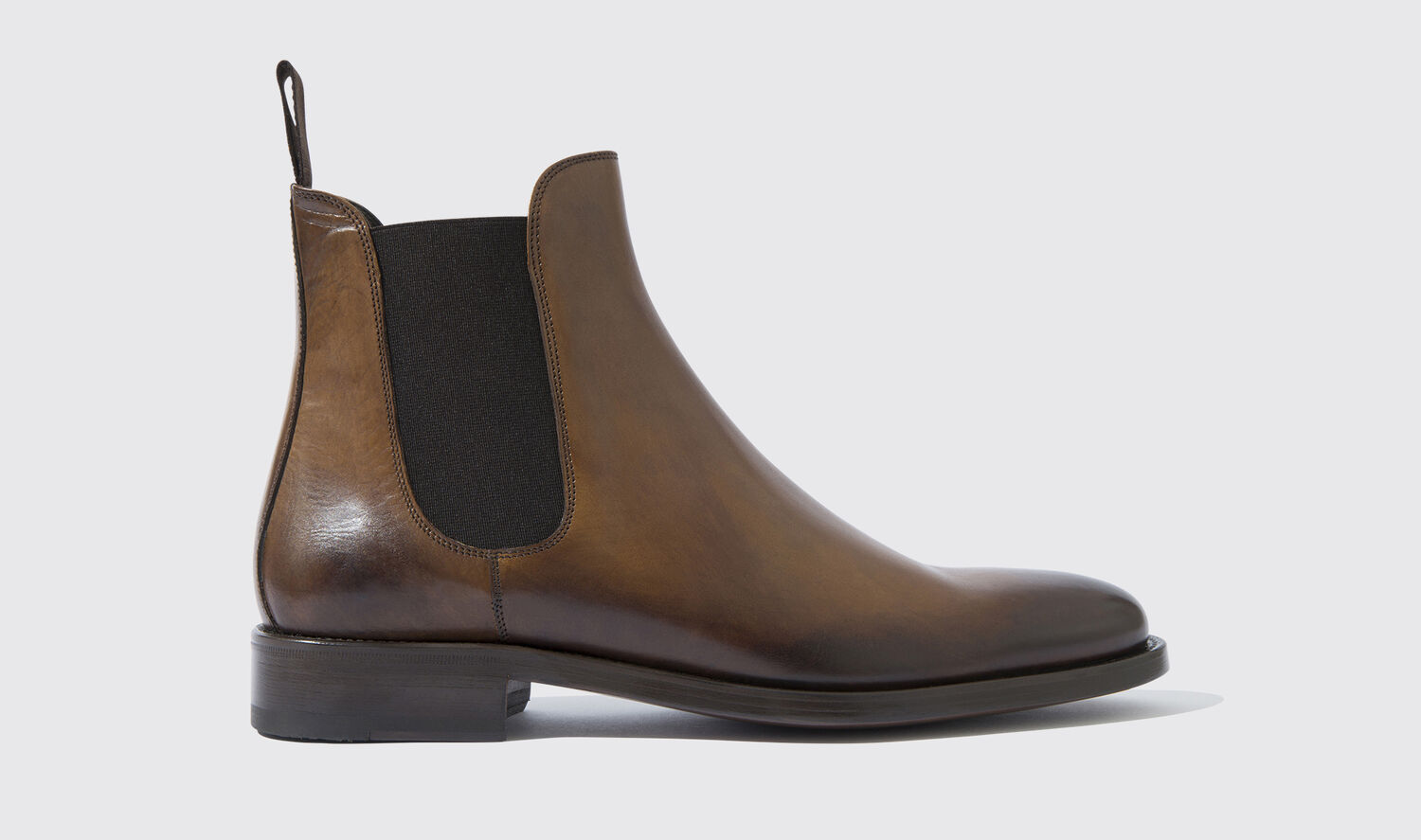 Image of Chelsea Boots Italian Shoe Scarosso male Enzo Castagno Chestnut Calf Calf Leather 46
