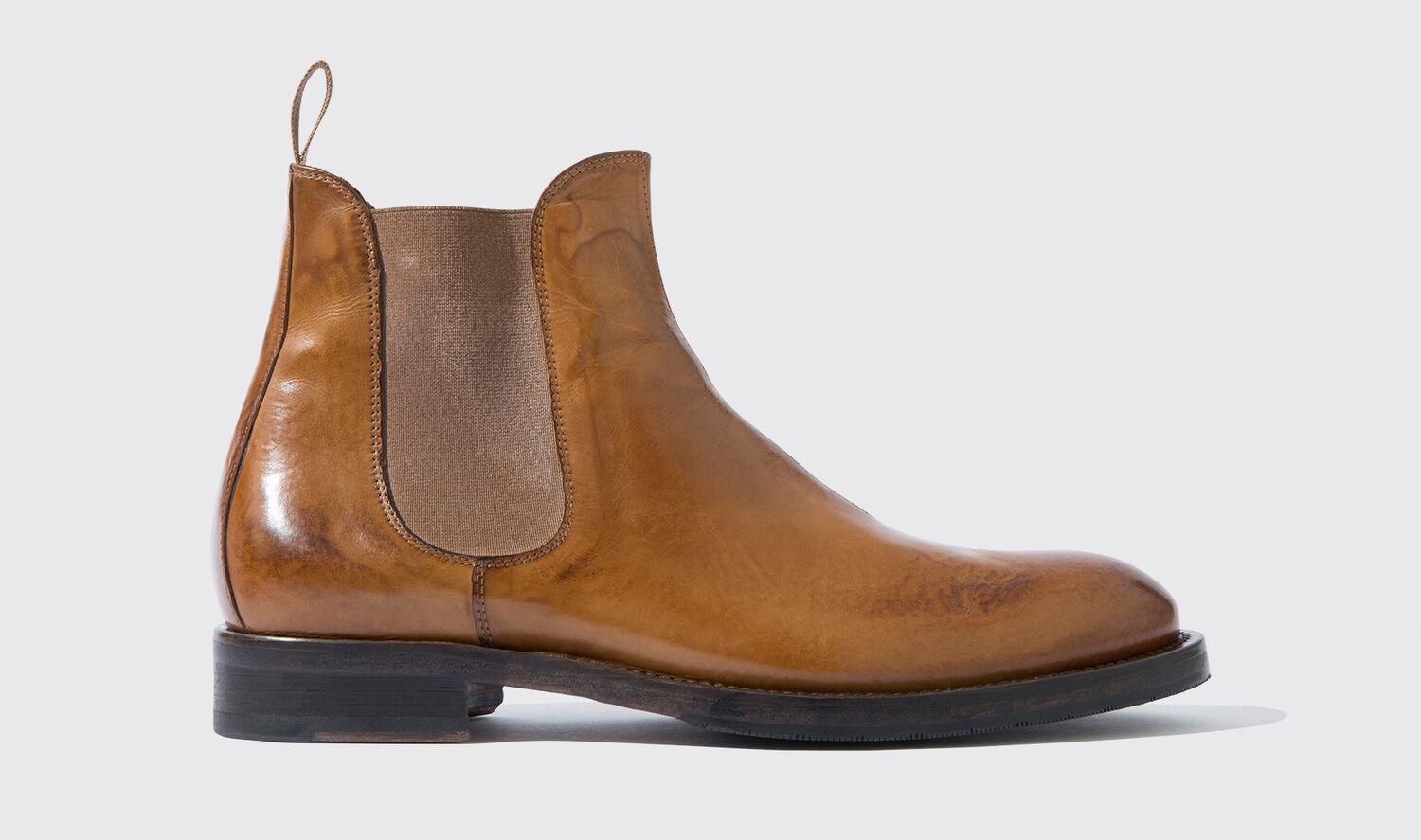 Image of Boots Italian Shoe Scarosso male Dean Peanut Brown washed calfskin Calf Leather 45
