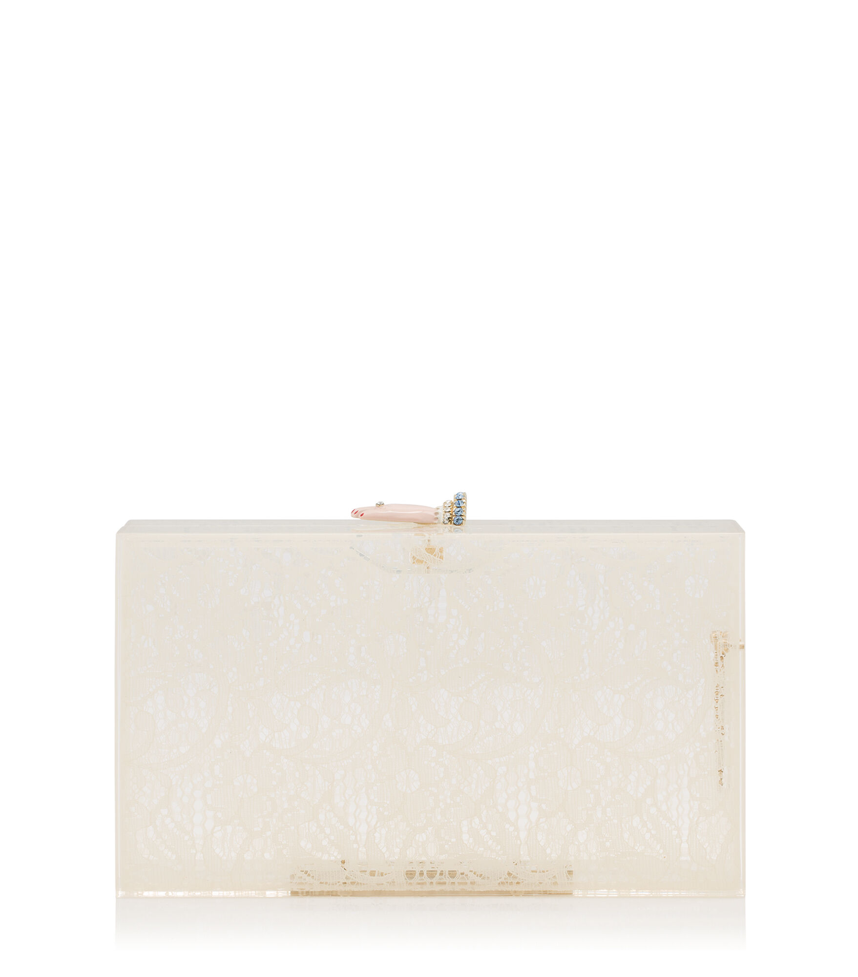 Charlotte Olympia Clutch and Handbags Women - ROCK ON PANDORA IVORY Perspex OS