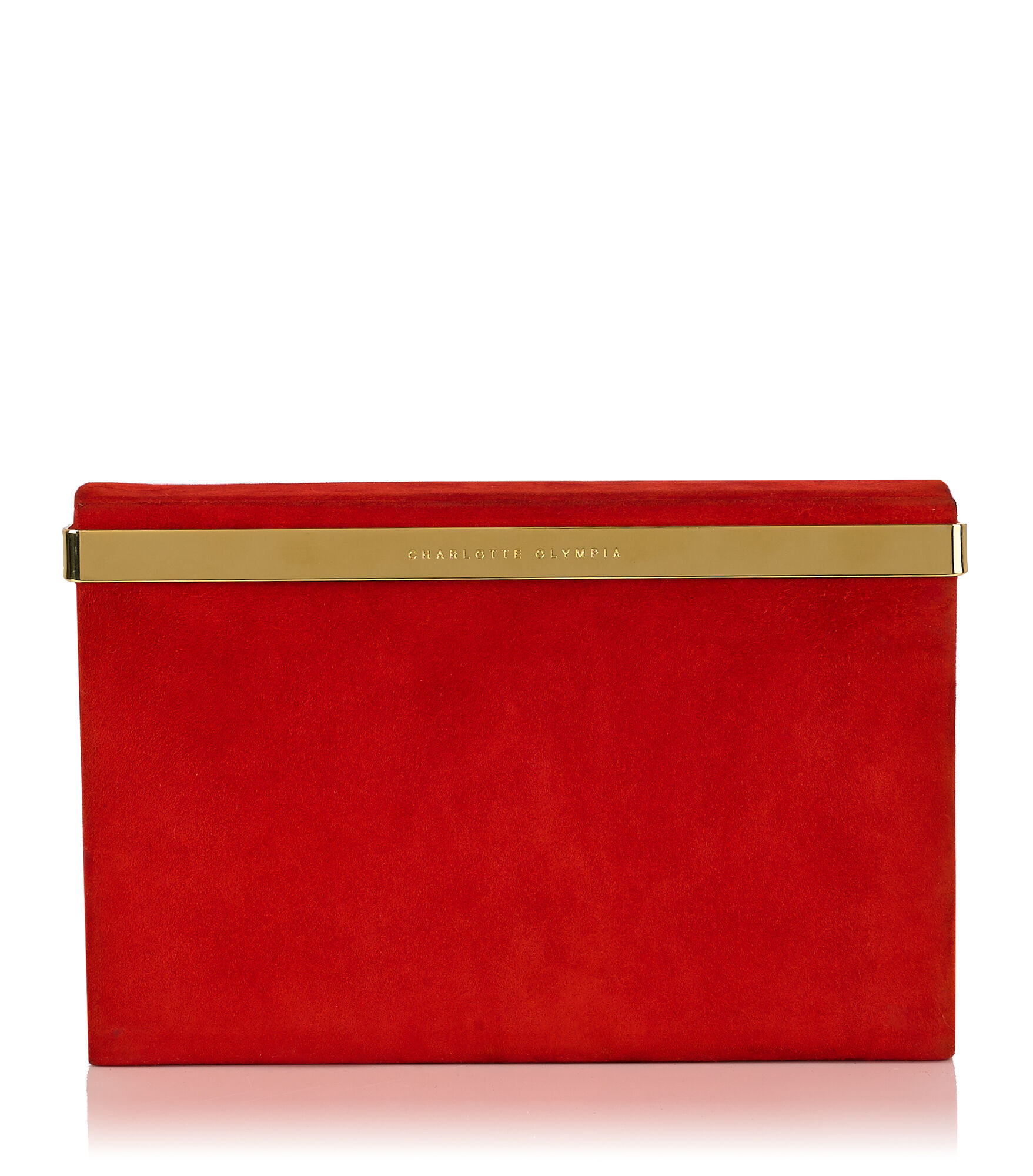 Charlotte Olympia Clutch and Handbags Women - VANITY CLUTCH RED Suede OS