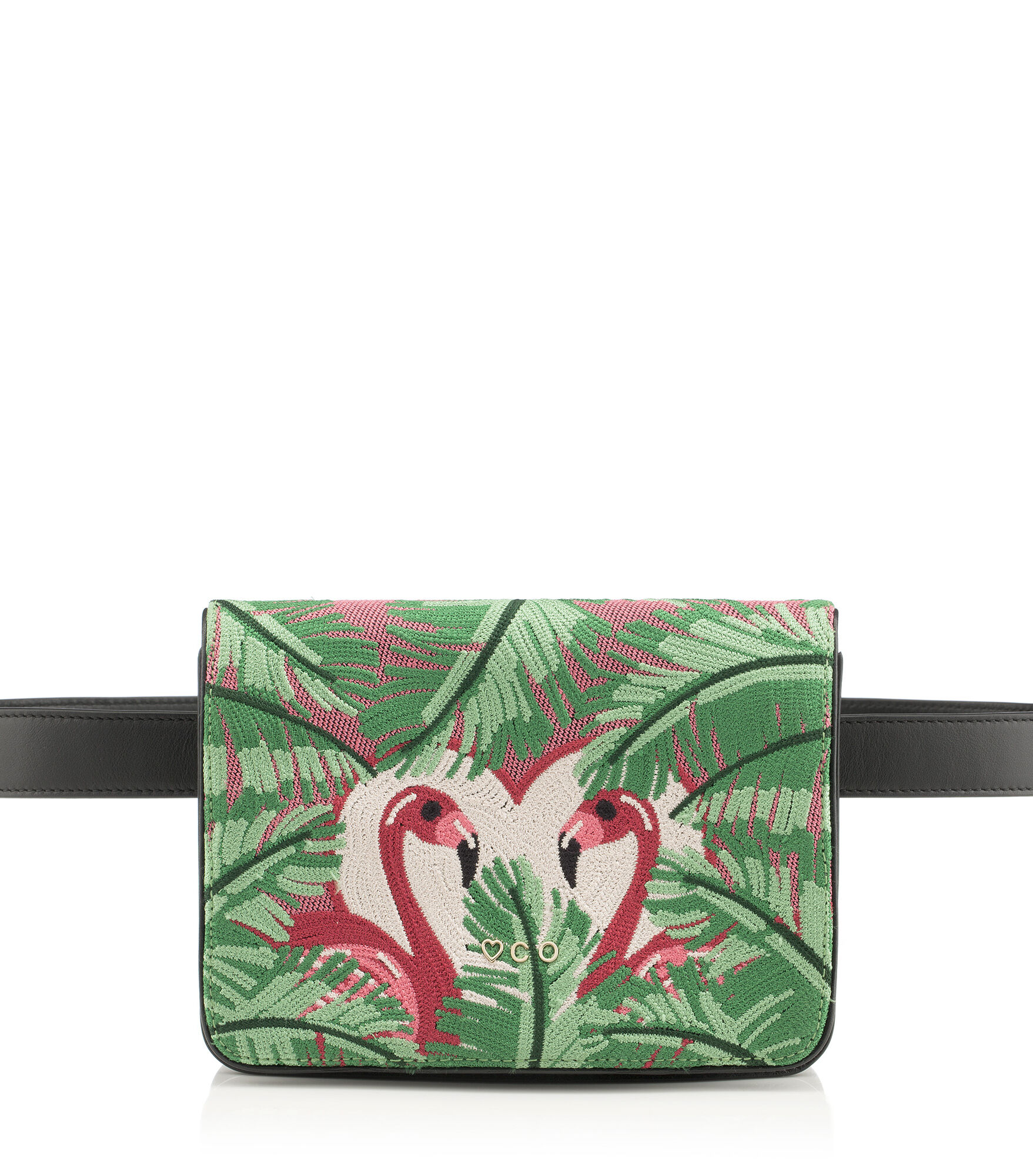 Charlotte Olympia Clutch and Handbags Women - FLAMINGO BELT BAG MULTI COLOUR Brass/crystals OS