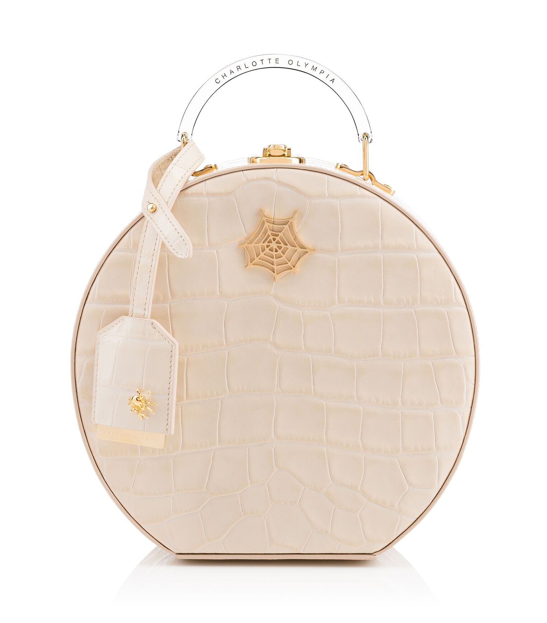 Charlotte Olympia Leather Bags Women - ATKINSON OFF WHITE Croc embossed calfskin OS