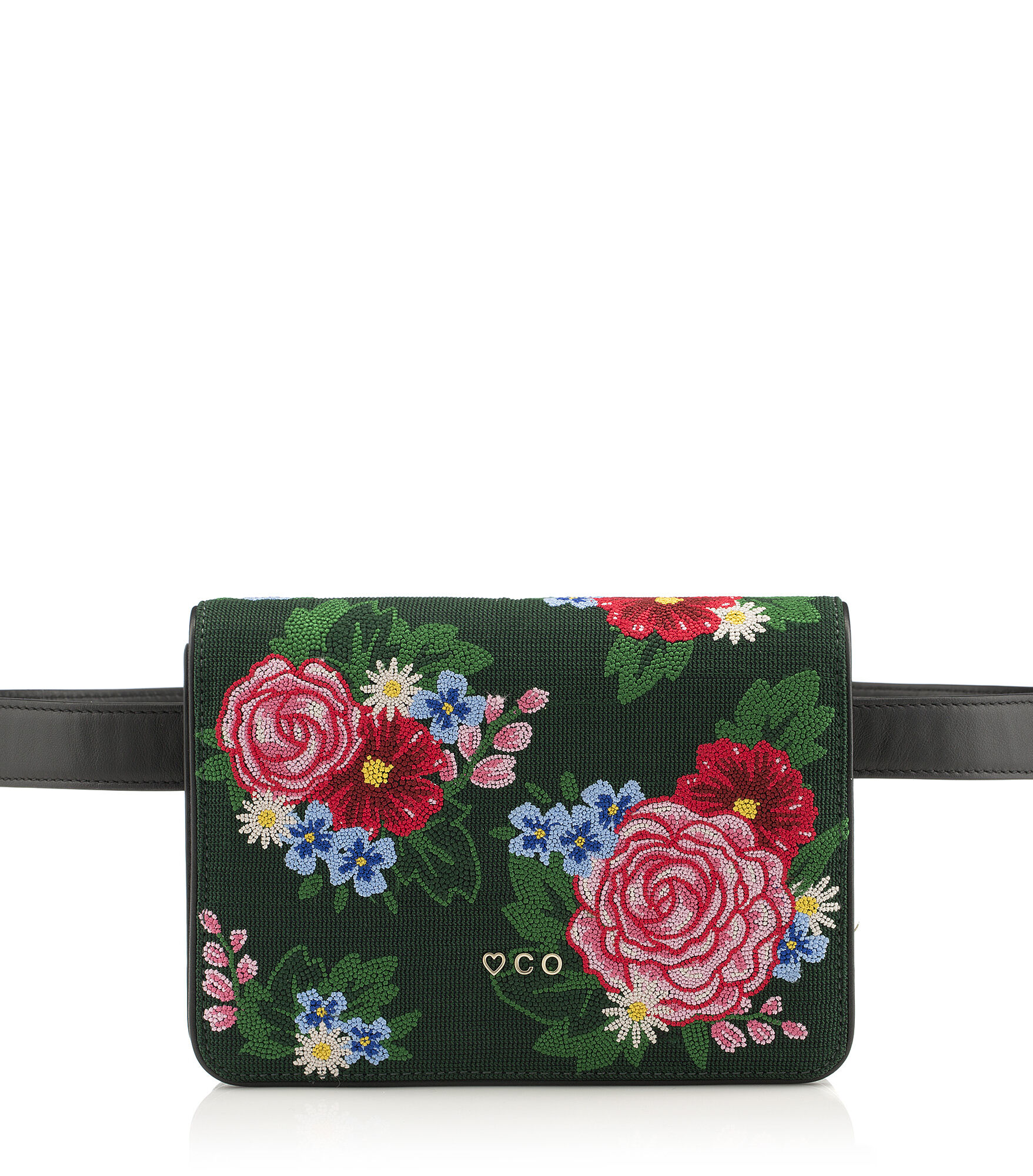 Charlotte Olympia Clutch and Handbags Women - ROSE GARDEN BELT BAG MULTI COLOUR Brass/crystals OS