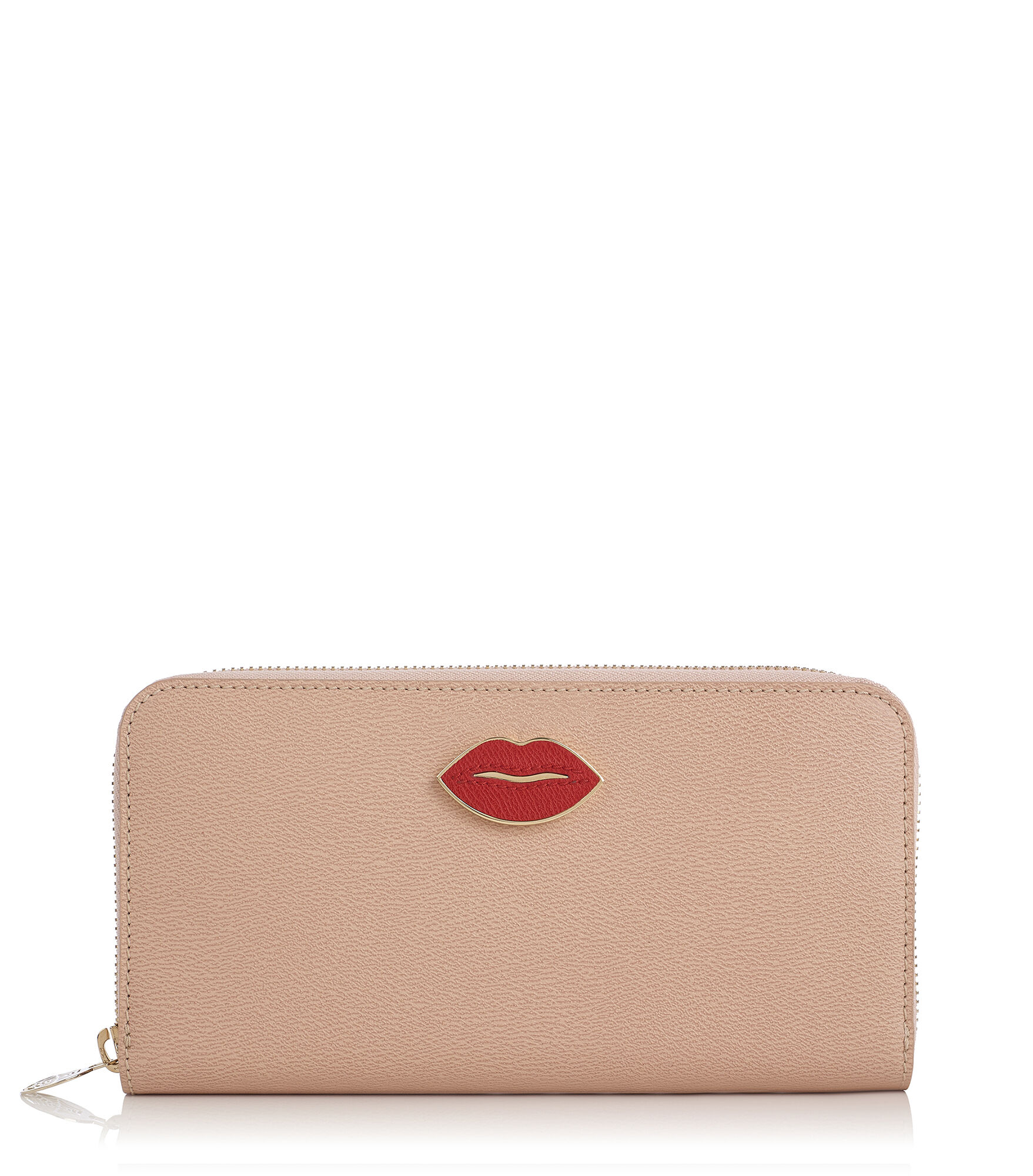 Charlotte Olympia Small Leather Goods Women - ZIP WALLET BLUSH Grained Calfskin OS